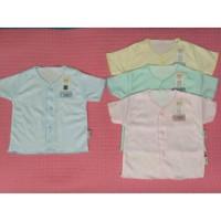 Fluffy Baju Bayi Pendek Neci Salur Baru Lahir Newborn N Limited