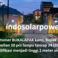 JUAL Lampu taman tancap 24 LED solar power tenaga surya matahari tera