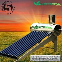 Terranova solar water heater 100 liter heat exhanger tanpa listrik