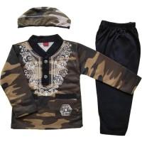 Baju Muslim Koko (6-12 Bulan) Anak Bayi Laki-Laki Setelan Set Peci LY7
