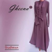 Gamis/Terusan Shafeeya (gheena06) Bahan Koshibo Crepe
