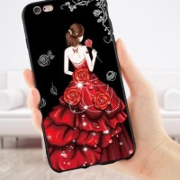 Softcase Silicone TPU 3D Gaun Fashion Cover Case Casing HP Vivo Y51