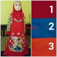 9 - 10 Tahun Baju Muslim Anak Frozen