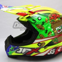 BEST SELLER HELM CROSS JPX MODEL AIROH MOTOCROSS YELLOW GREEN RED