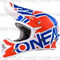 BEST SELLER Helm Cross Oneal 3 Series RADIUM Red Blue White HELMET O