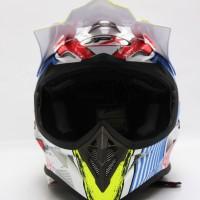 BEST SELLER HELM CROSS JPX MODEL AIROH MOTOCROSS BLUE WHITE RED