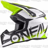 BEST SELLER Helm Cross Oneal 5 Series BLOCKER Black Hi Vis HELMET O N