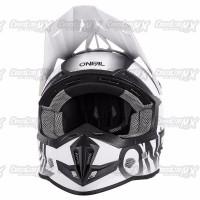 BEST SELLER Helm Cross Oneal 5 Series BLOCKER Black White HELMET O NE