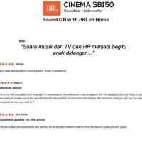 jbl sb150 / sb 150 soundbar wireless TV speaker sl yamaha samsung LG