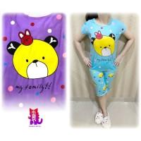 Set Baju Tidur Korea Bear My Family Kaos