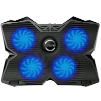 THE GREATEST Kipas Laptop Gaming LED Biru Cooling Pad 4 Fan Blue LED