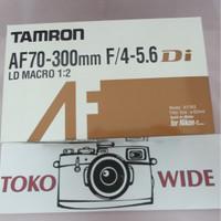 LENSA TAMRON AF 70-300 F/4-5.6 DI LD MACRO 1:2 FOR NIKON