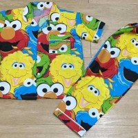 Baju Tidur Anak Piyama Anak Motif Big Elmo