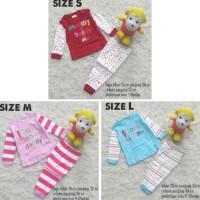 Baju Tidur Piyama Setelan Kaos Panjang Anak Bayi Perempuan Mommy Daddy
