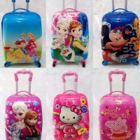 Troli Trolley Koper Tas Anak Sekolah Frozen Elsa Anna Peppa Pig Toy