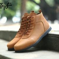 Sepatu Kulit Pria Bradleys Anubis Tan - Sepatu Casual Boots Pria