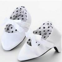 Jual Sepatu bayi perempuan prewalker shoes high heels polos pit import mura Murah