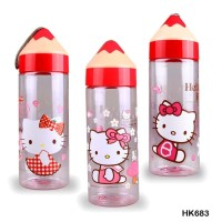 Botol Minum anak 500ml pensil Hello Kitty HK683-1