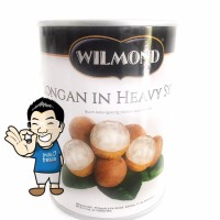 Wilmond Longan In Heavy Syrup Canned- Minuman Buah Longan Kaleng 565g
