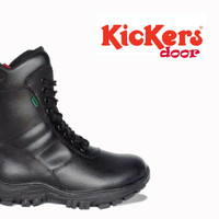 sepatu boots pdl kickers safety shoes boot resleting jatah tni kulit