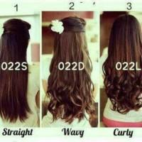 Hair Clip Big Layer 60 cm Curly / Lurus / Wave / Wavy / Diskon