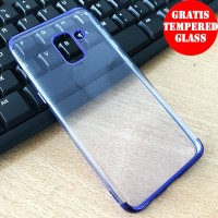 SAMSUNG A8 PLUS 2018 Shiny Transparen Bening Ultra Thin TPU Soft  1364