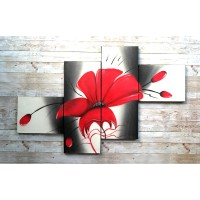 Lukisan Bunga Minimalis RDFW