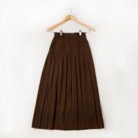 Rok Span Plisir Pramuka SMA WOFFI Ban Size 10 Coklat Limited