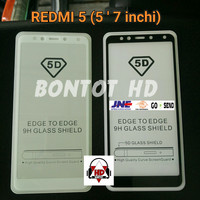 Tempered Glass 5D Xiaomi Redmi 5 Redmi5 5.7 inch Premium Full Layar Hp