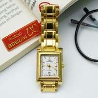 Jam tangan Wanita mirage original GD2199 Gold