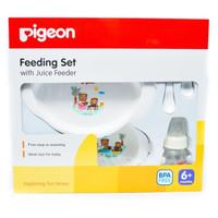 Jual pigeon feeding set with juice feeder (alat makan bayi/BPA Free) Murah
