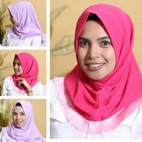 Kerudung / Hijab Instan Salwa Renda Rumbai * Jilbab instan murah