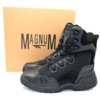 Sepatu Boots Import magnum 566 Hitam 8 Inch Kulit Gunung Taktis