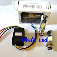 Promo Paket Hemat..!!! 2Pcs Lampu Led H6 Motor + 1 Pcs Converter Dc