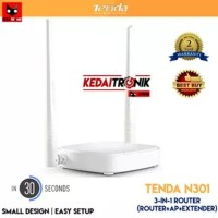 Promo Tenda N301 3 In 1 Wireless Router+Access Point+Extender Wifi 301