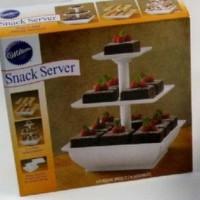 Jual Snack Server Etalase Kue 3 Tingkat Stand Saji Rack Rak Cup Cake