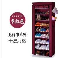 Sale! Rak Sepatu Susun 10 Kain Shoes Rack Lemari Tingkat Simpan Dust