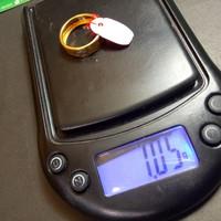 Cincin motif putih Emas UBS 375 Ori Gold