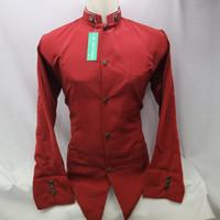 Baju Koko Semi Jasko Jas Koko Polos Merah Lengan Panjang Baru Murah T5