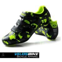 Sepatu sepeda balap cleat ROADBIKE MTB TIEBAO Army Look Blackgreen