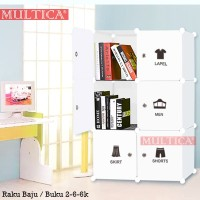 Multica Lemari Buku Rak Mainan Wardrobe Cloth Plastik 2-6-6k DIY