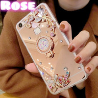 Case Samsung Galaxy J330 J3 Pro 2017 Mirror Luxury Flower Diamond