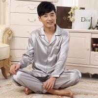 Baju Tidur Piyama Pria Laki Piyama Cowo Satin Bajutidur Male Sleepwear