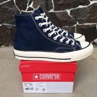 sepatu sneakers untuk pria converse high 70s dress blue white