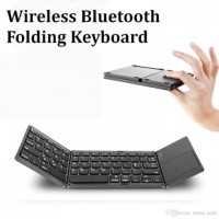Wireless Bluetooth Foldable Keyboard Lipat Touchpad