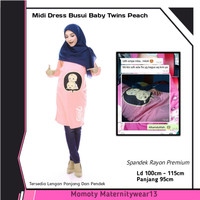 Baju Hamil Dan Menyusui BabyTwins Peach Momoty Gamis Busui Modis