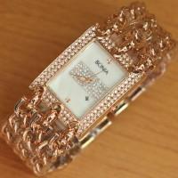Jam Tangan Wanita Bonia Triple Chain rose_gold super pr Limited