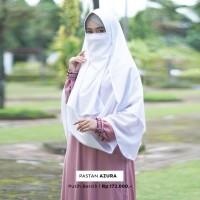 Jilbab Pashmina Instan Syari Warna Putih Bersih Free Cadar Murah