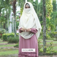 Jilbab Pashmina Instan Syari Warna Putih Telur Free Cadar Murah