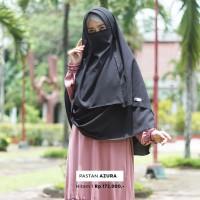 Jilbab Pashmina Instan Syari Warna Hitam dengan Free Cadar Murah